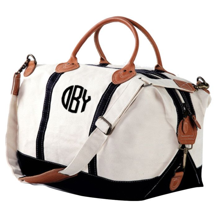 Nantasket Personalized Overnight Bag In Black Customized