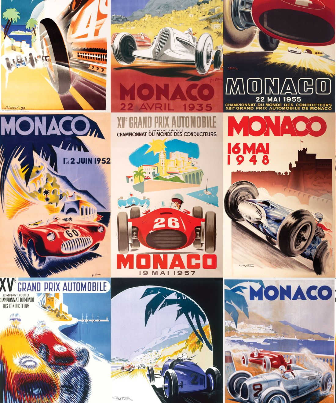 Circuit De Monaco Vintage Race Car Wallpaper Milton King In 2020 Car Wallpapers Vintage Race Car Vintage Racing