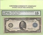 1914 $50 San Francisco  FR 1071  Federal Reserve Note PMG Choice Fine 15 - http://collectorcoinsforsale.com/1914-50-san-francisco-fr-1071-federal-reserve-note-pmg-choice-fine-15/
