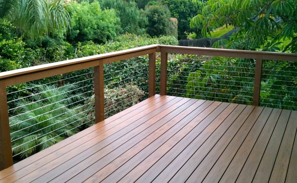 Exterior Cable Stair Railing Kit Frameless Deck