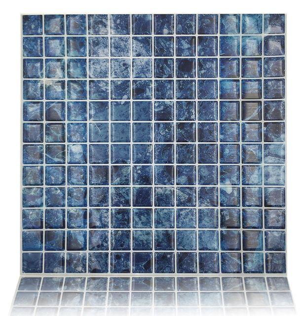 Pelar y pegar azulejos de la pared de 10 x 10 pegamento for Azulejo de la pared de la cocina verde