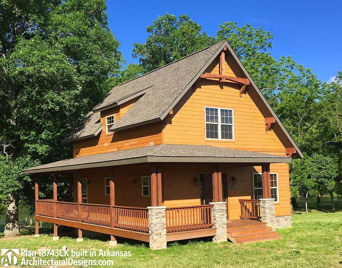 Cottage House Plan with 1154 Square Feet