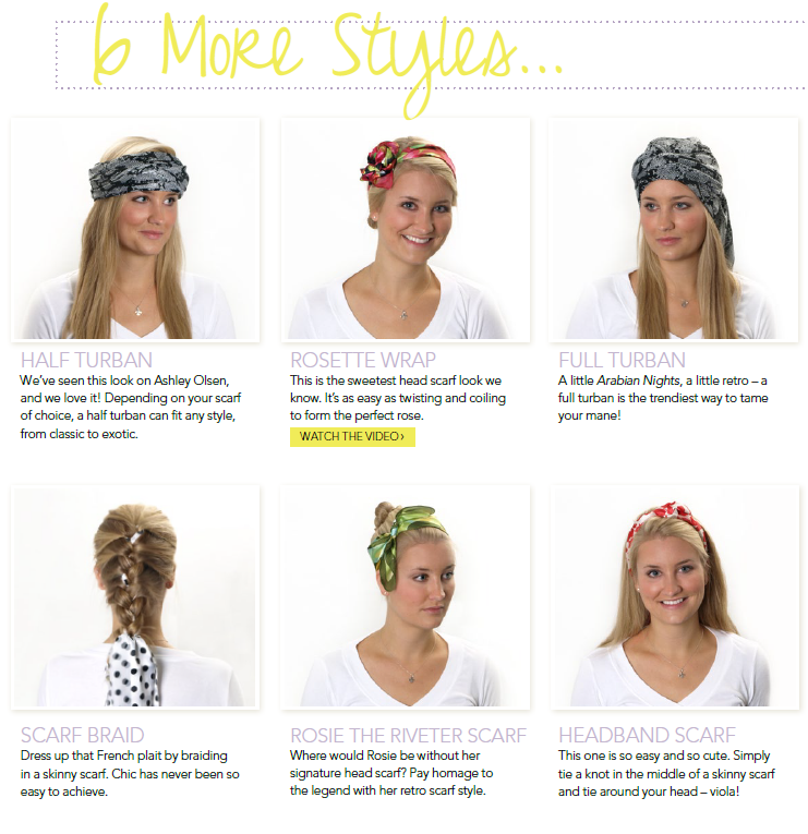 6 different ways to tie a head scarf