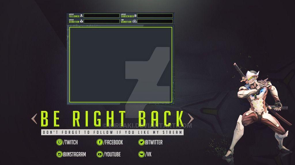 Be Right Back Genji Overwatch With Cam By Kireaki Deviantart Com