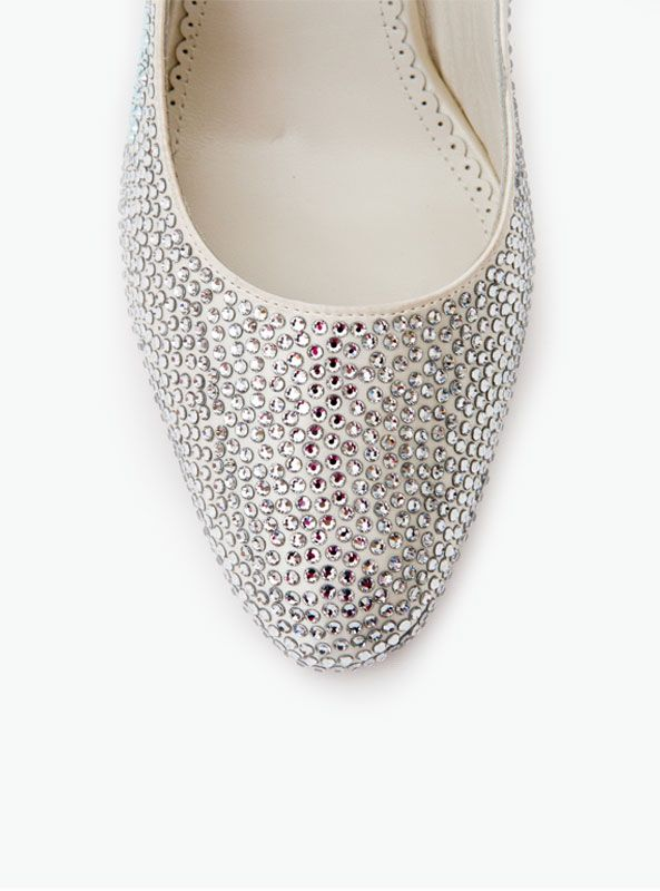 ffc4f063a Beautiful wedding shoes by Crystal Couture Gorgeous crystal almond toe heels  made from the finest ivory satin and real Italian leather soles.