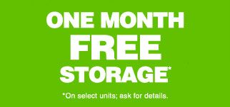 One Month Free Free Storage