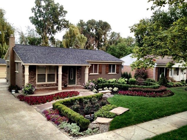 Attrayant Exterior Great Front Yard Landscaping Ideas With Front Yard Flower Bed  Landscaping Ideas Also Re Landscaping Front Yard And Row House Front Yard  Landscaping ...