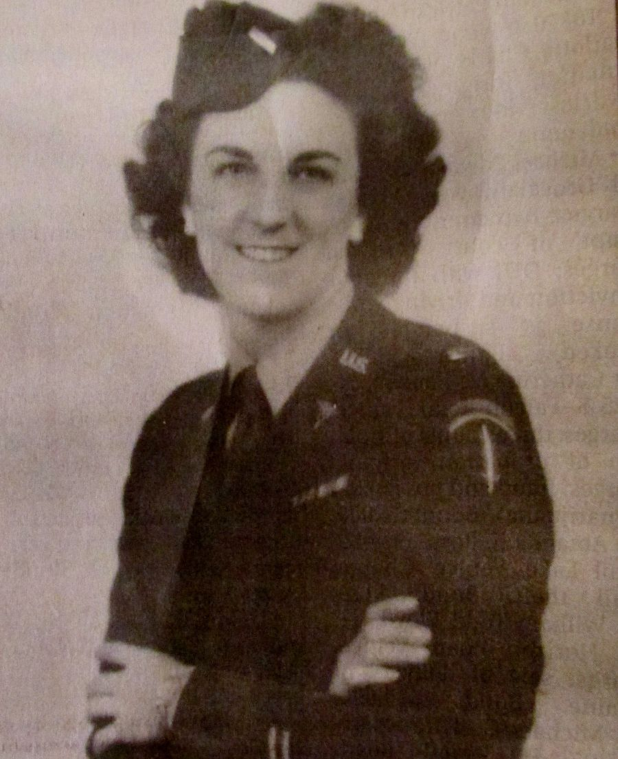 2nd Lt. Ozzie Nelson is pictured in her Army uniform shortly after she joined the nursing corps during World War II ~