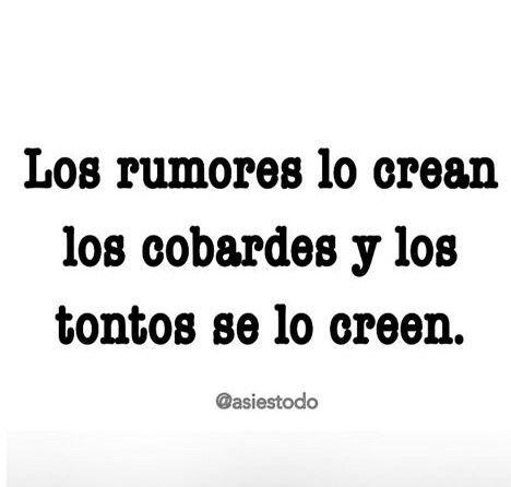 Los rumores