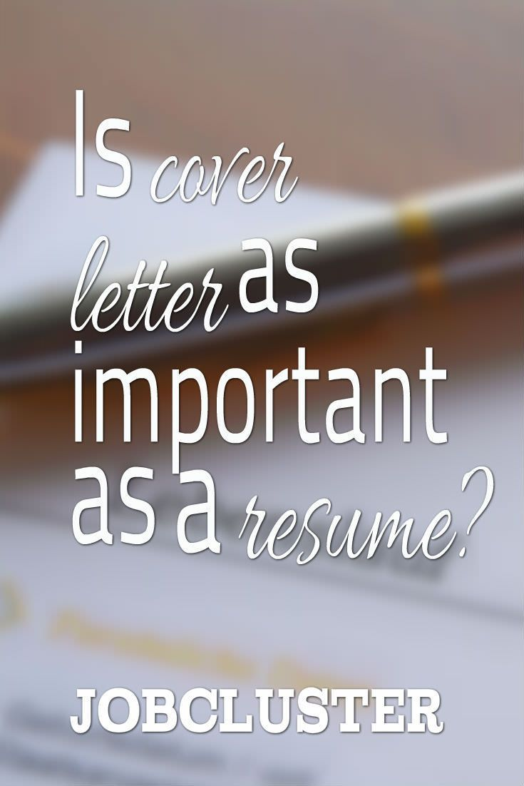 Is Cover Letter Important As A Resume Coverletter Cv Resume