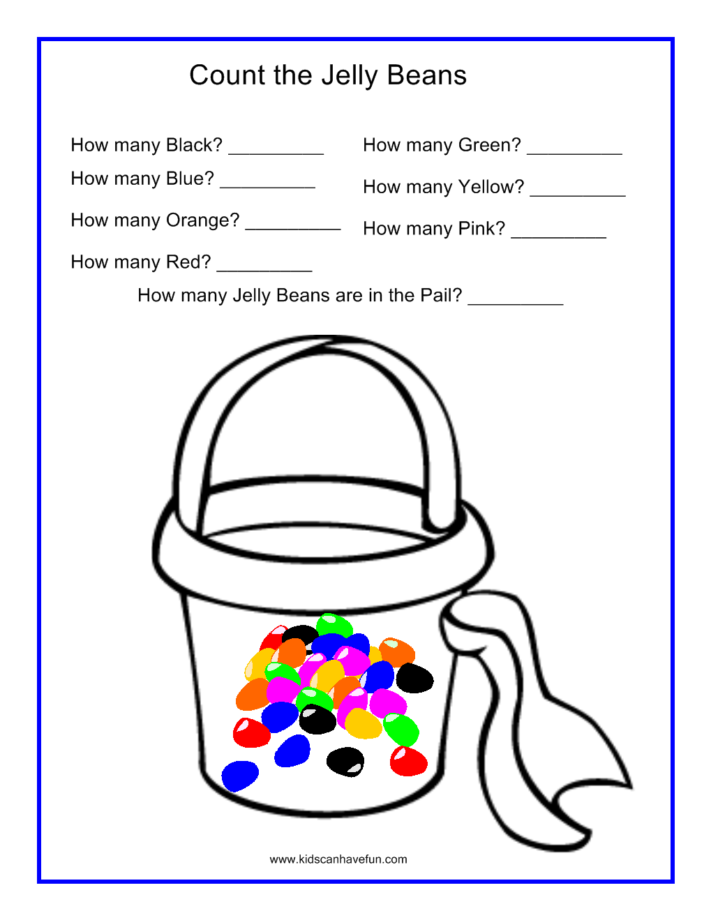 Count The Jelly Beans In The Sand Pail Worksheet Free Math Worksheets Math Worksheets Kids Math Worksheets [ 1319 x 1019 Pixel ]