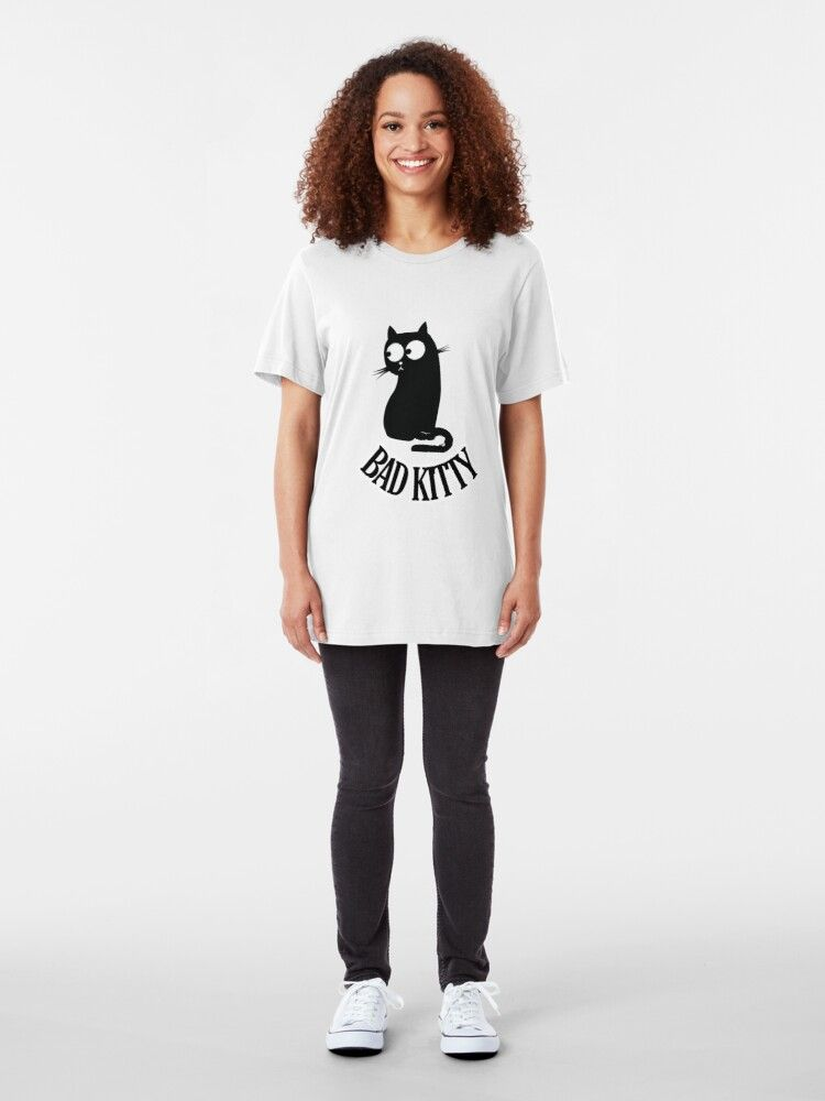 'bad kitty cute cat lover t shirt' Essential T-Shi