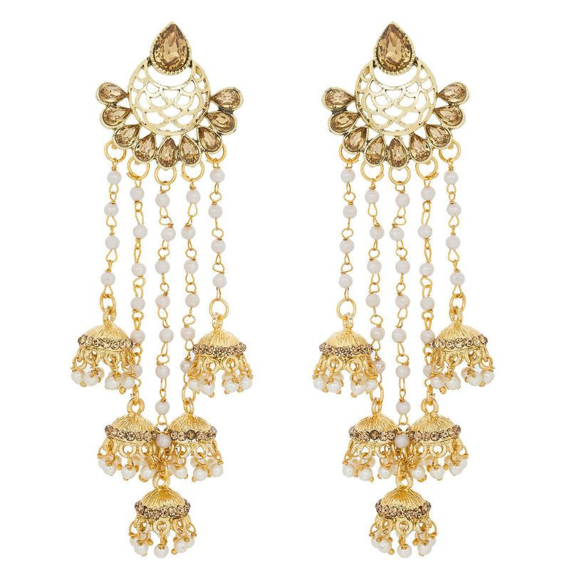 93f131ed76a FashionCrab Alloy Gold Earrings for girls