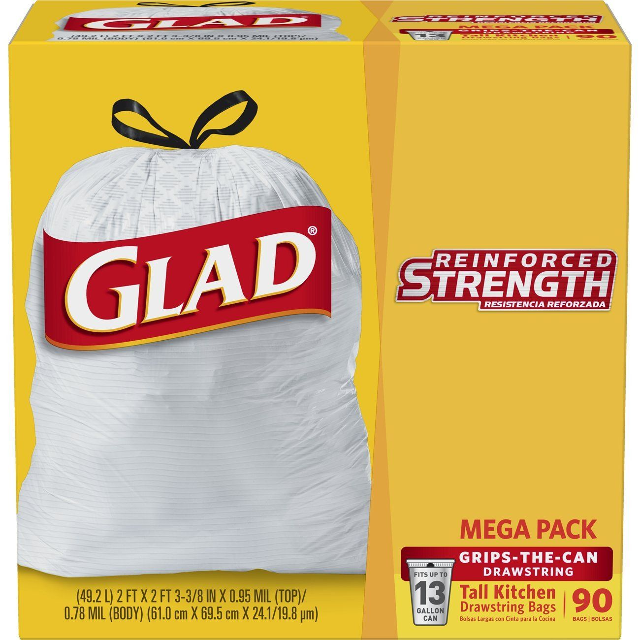 Glad Tall Drawstring Trash Bags 13 Gallon 90 Count You Can Get More Details By Clicking On The Image It Is An A Trash Bags Trash Bag Kitchen Garbage Bags