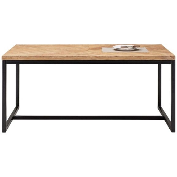 Esstisch In Akazie Und Eisen Ein Schicker Essplatz Fur Ihr Zuhause Esstisch Tisch Zuhause