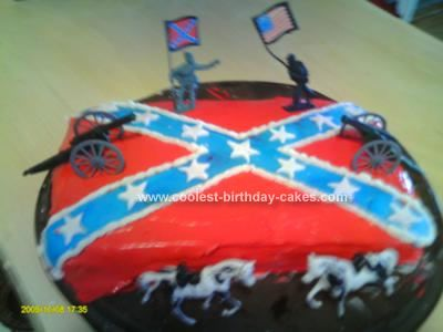 Pin On Rebel Flag Fondant Cakes