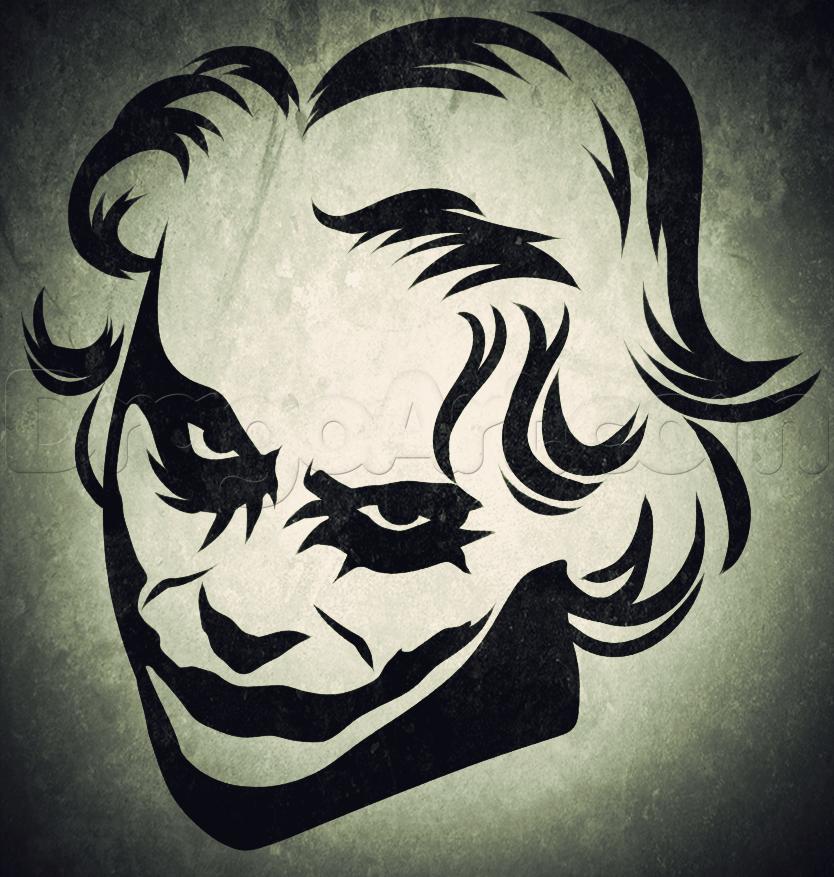 How To Draw Tribal Joker Art In 2019 Joker Drawings