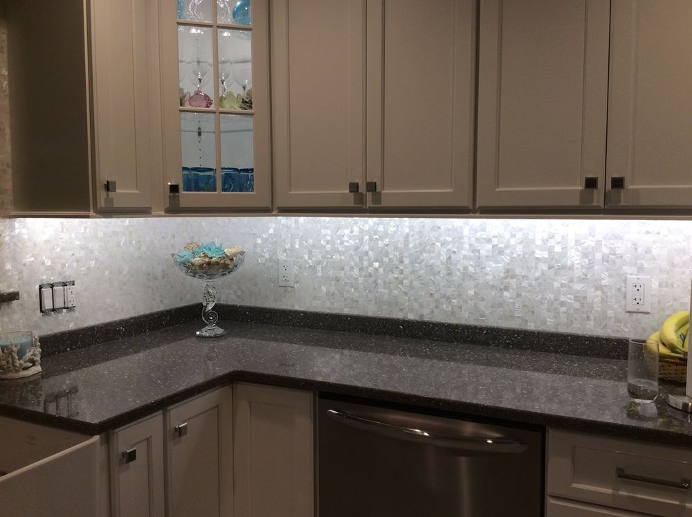 Large Groutless Mother Of Pearl Shell Tile Kitchen Backsplash Best Kitchen Sink Backsplash Design Decoration