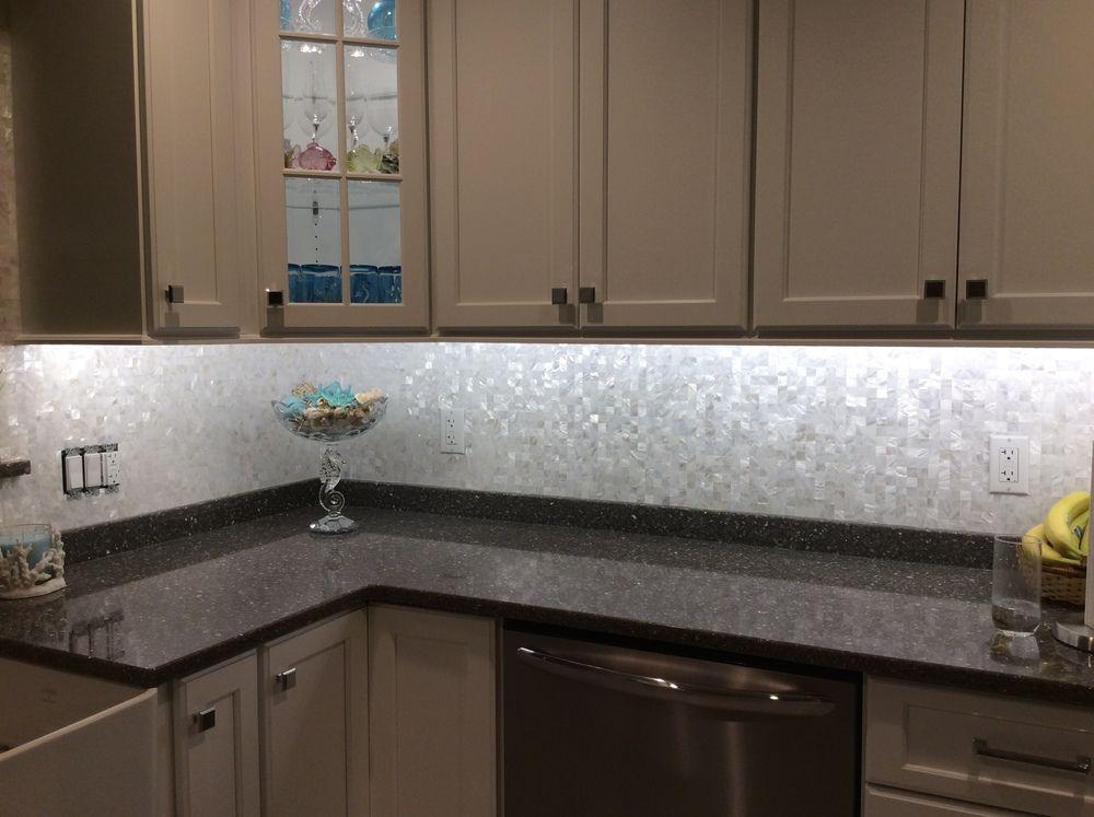 Large Groutless Mother Of Pearl Shell Tile Kitchen Backsplash Best Kitchen Sink Backsplash Design Decoration