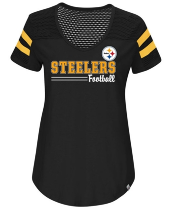 e918578057b Majestic Women's Pittsburgh Steelers Day Game T-Shirt - Black S ...