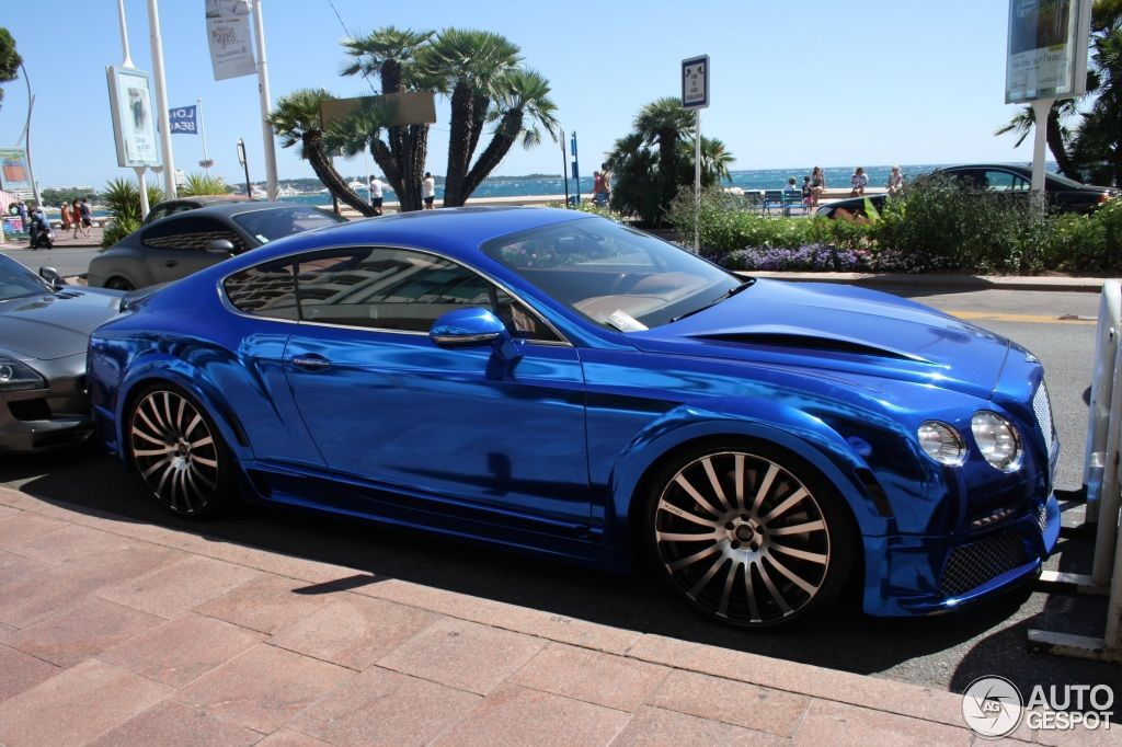 Bentley Continental GT Speed 2012 GTX Edition By ONYX   Chrome Blue