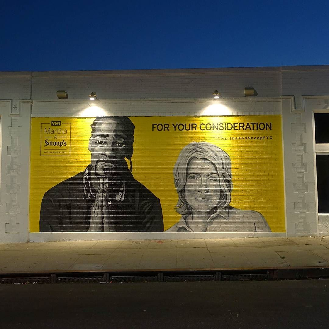 For Your Consideration: Snoop Dogg and Martha Stewart mural ...