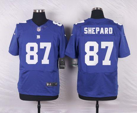 NFL New York Giants #87 Sterling Shepard Royal Elite Jersey