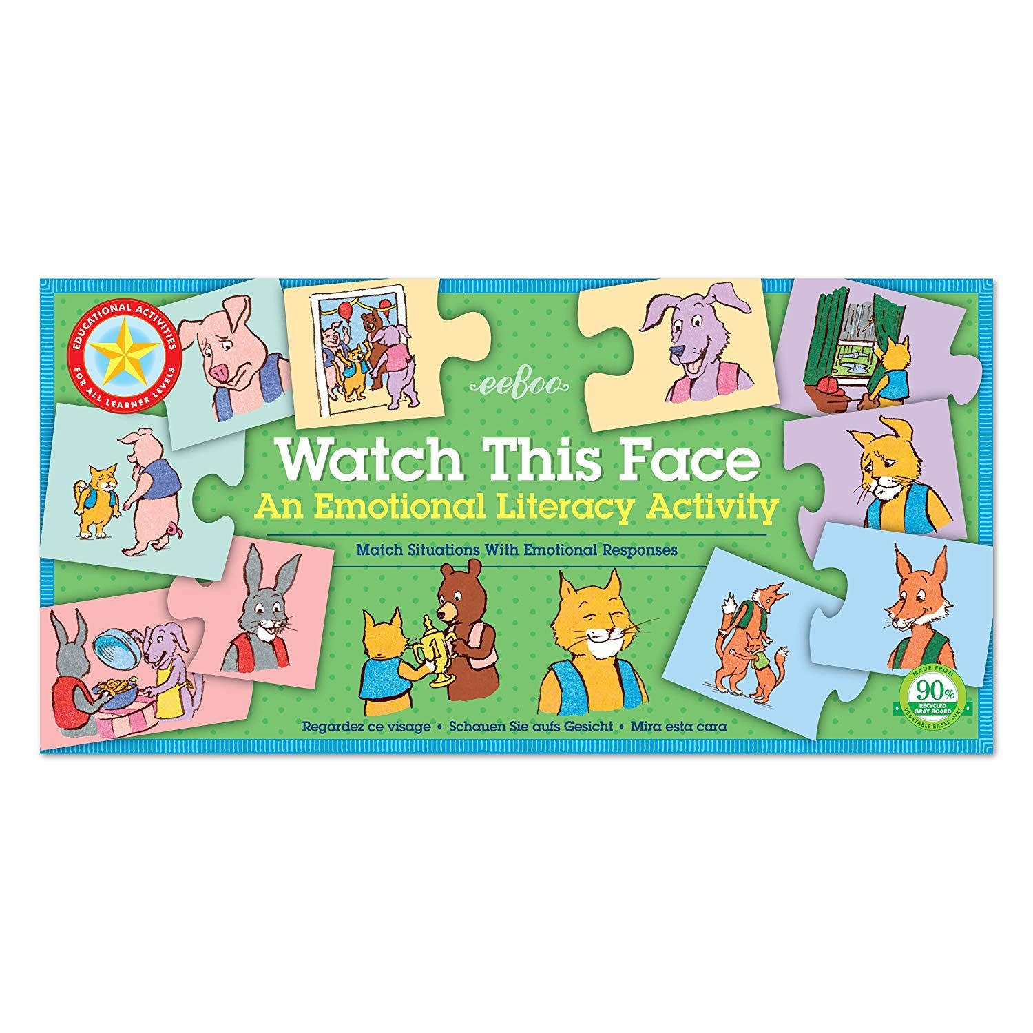 Eeboo Watch This Face Emotions And Feelings Matching Game