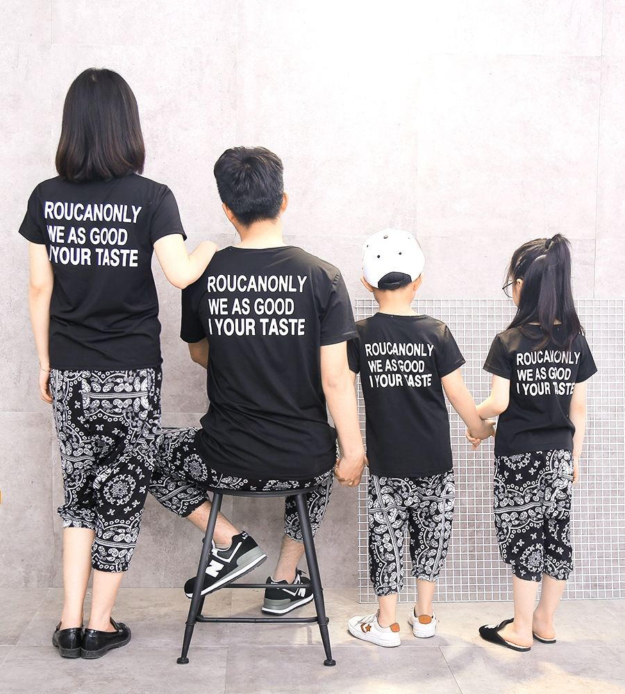 c2c077d8b0 Family Matching Clothes Casual Family Set T shirt   Harem Pants 2pcs Mother  and Daughter Son Clothes Family Clothing Sets KX8