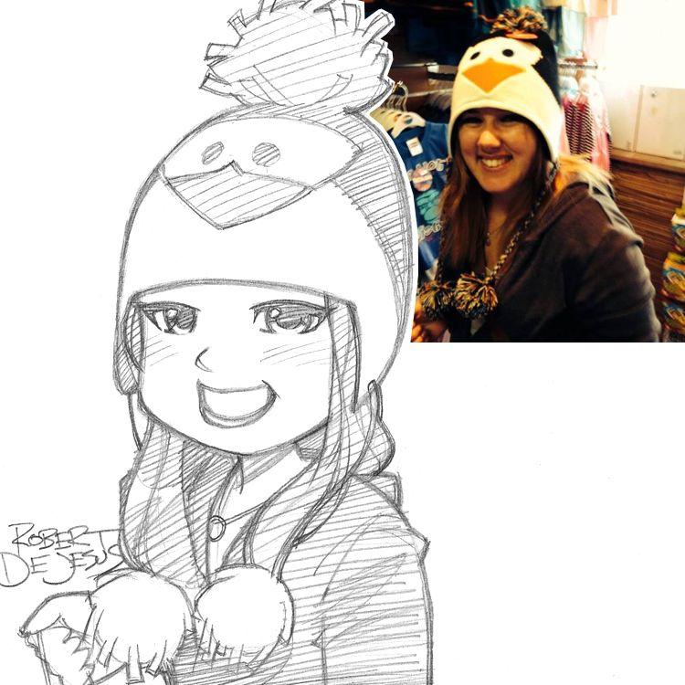 Robert-deJesus-divertidos-retratos-anime-013   dibujo   Pinterest ...