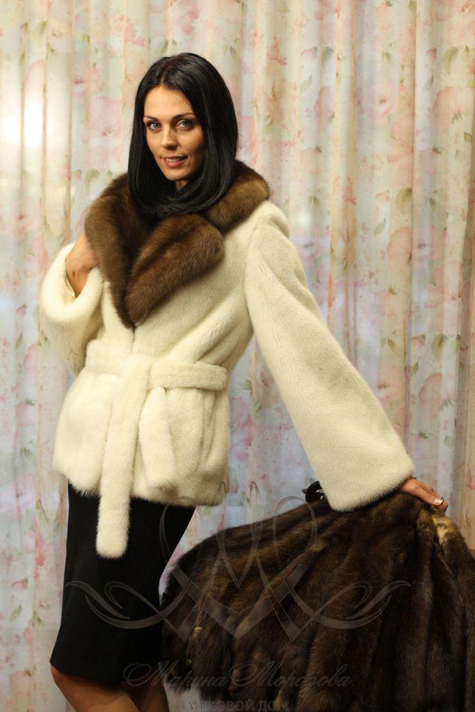 mink & sable fur jacket