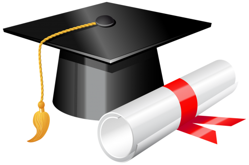 Graduation Cap With Diploma Png Clipart The Best Png Clipart Graduation Clip Art Clip Art Graduation