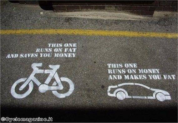 Bike Vs Car Cycling Quotes Street Art Utopia Words