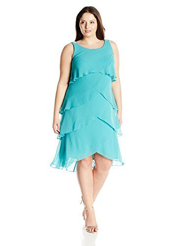 Sl Fashions Womens Plus Size Re Order Jewel Shoulder Multi Tier