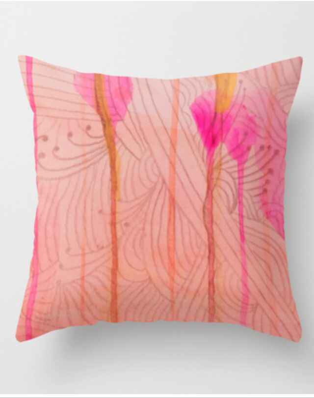 Decorative Throw Pillow Printed From My Paintingsdrawings On Etsy Awesome Etsy Decorative Throw Pillows