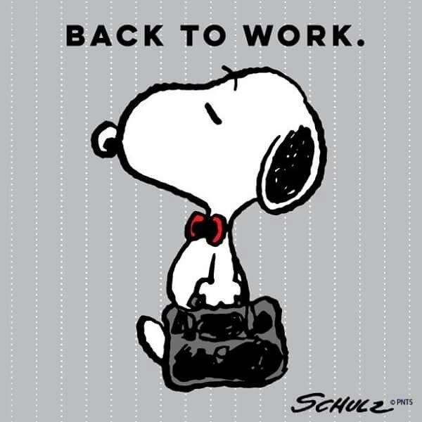 De Regreso Al Trabajo Frases Snoopy Dibujos Snoopy Imágenes De