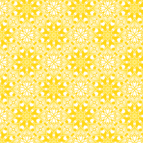 Kaleidoscopic Onion - Yellow fabric by siya, available from Spoonflower