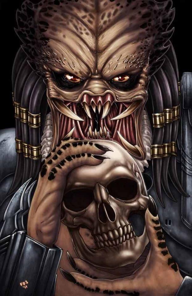 Predator Predator Art Skull Art Horror Movie Art