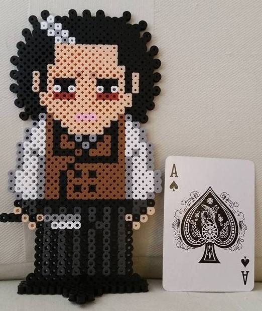 Johnny Depp's Sweeney Todd Perler Beads by LittleDpiece