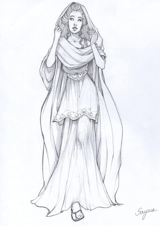 A greek Lady by Sayara-S.deviantart.com on @deviantART