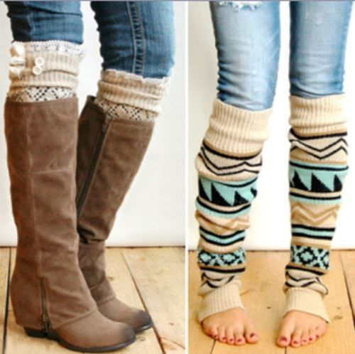 807523f8e94a5 Cool leg warmers and boot socks, they were shown on Shark Tank, name of the  company is Grace and Lace! Love these socks! graceandlace.com