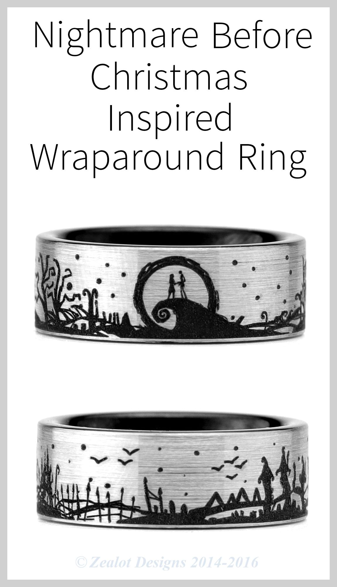 Steal Christmas with this Nightmare Before Christmas Wraparound Ring ...