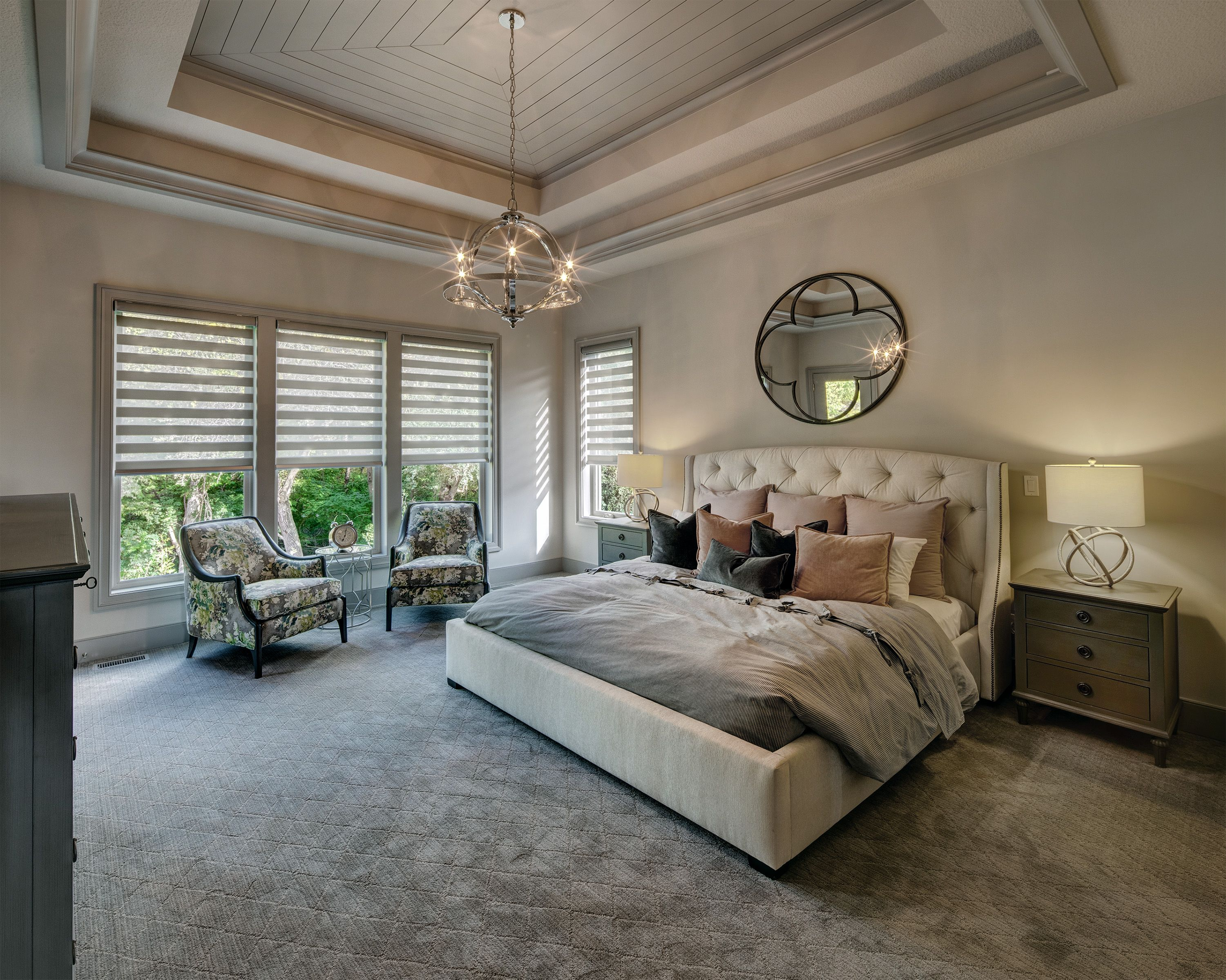 master bedroom with tray ceiling  master bedroom interior