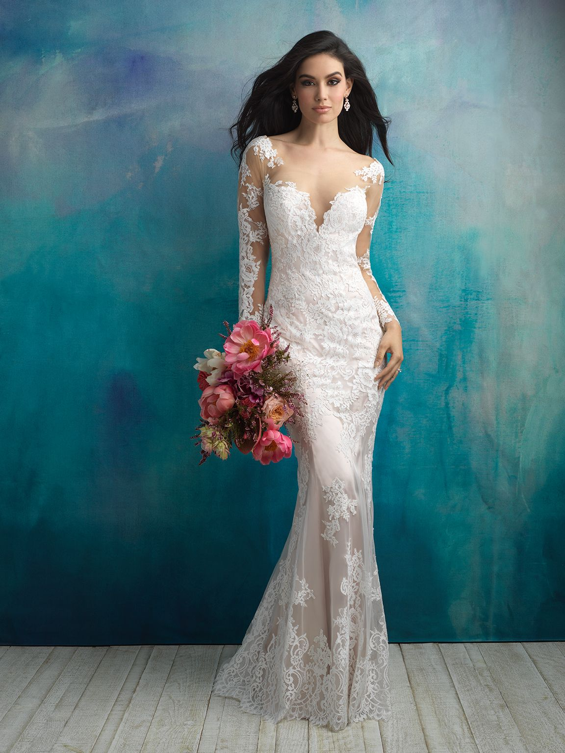 Allure Bridals 9506 Ivory/Nude Size 12 | Webster-Bridal Gowns ...