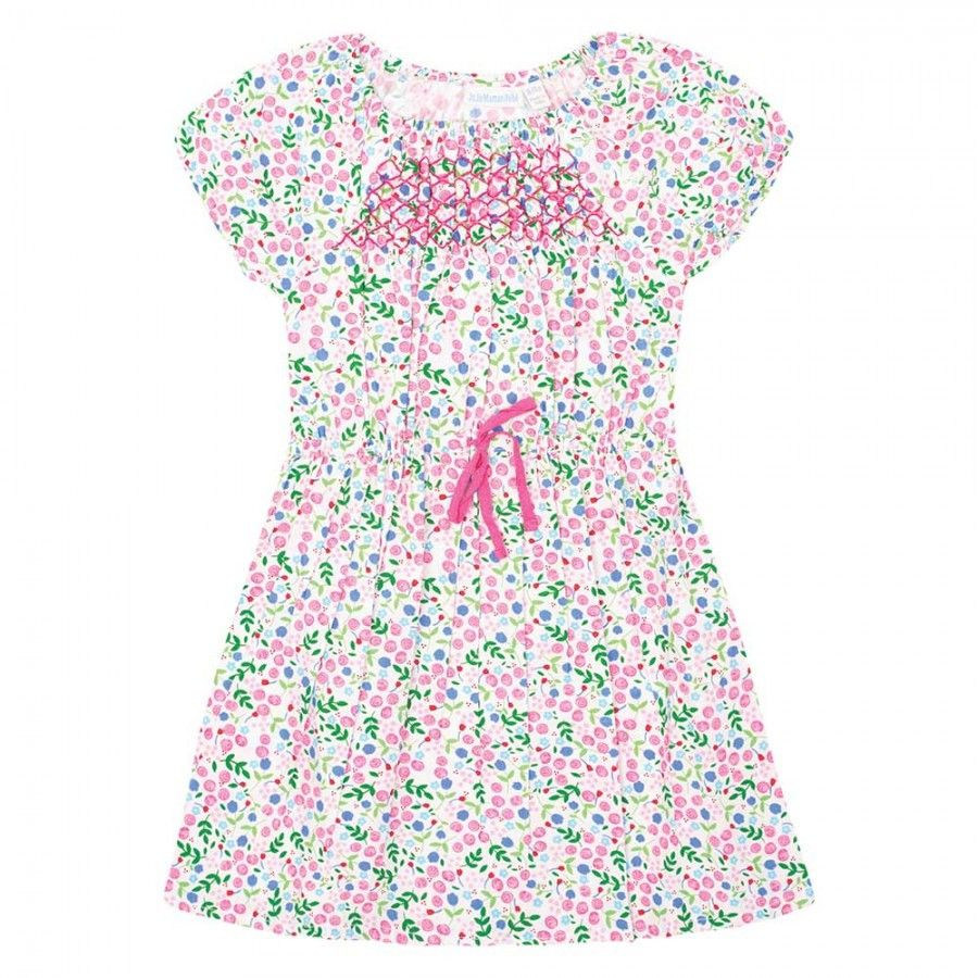 Jojo Maman Bebe Pastel Rose Smocked Dress