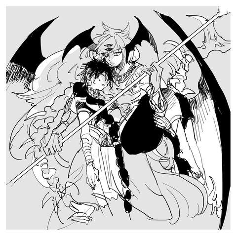 「龍ジュダ ※本誌バレあり」/「八坂」の漫画 [pixiv]ジュダル ...