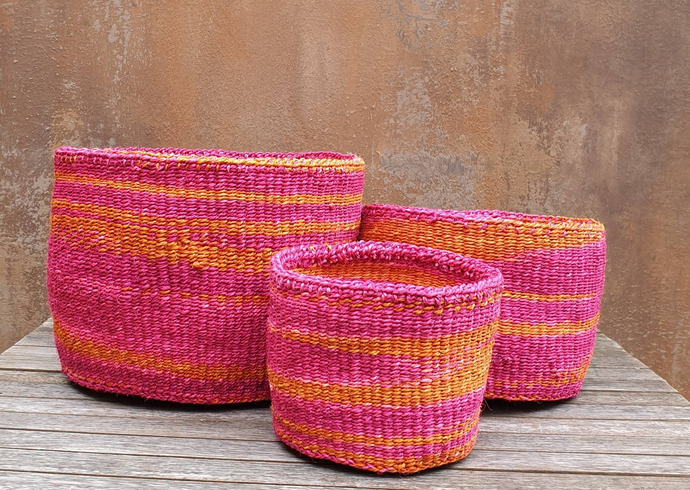 Pole Turquoise Sisal Baskets Etsy In 2020 Plant Pot Covers Sisal Pink Basket