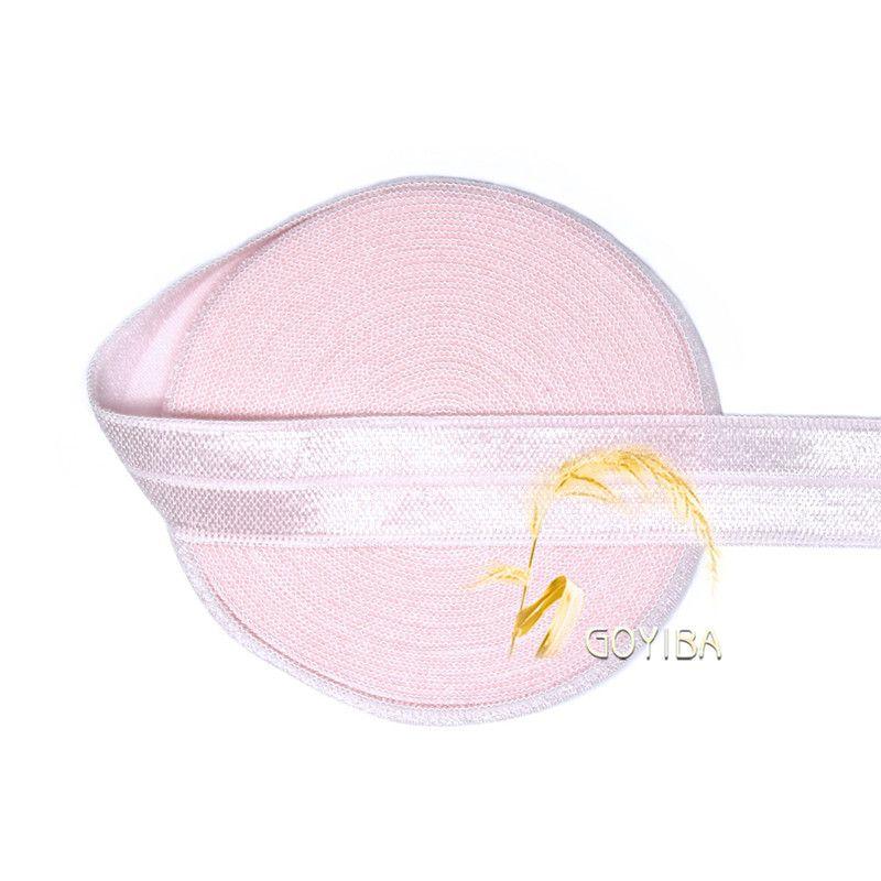 """Barato Goyiba 5 jarda 5/8 """" 1.5 cm de rosa sólida FOE Foldover Elastic Spandex cetim Hairband Headband guarnição do laço DIY costura noção, Compro Qualidade Acessórios de Cabelo diretamente de fornecedores da China: GOYIBA 5 Yard 5/8"""" 1.5cm White Solid Color FOE Foldover Elastic Spandex Satin Baby Hairband Headband Lace Trim DIY Sewin"""