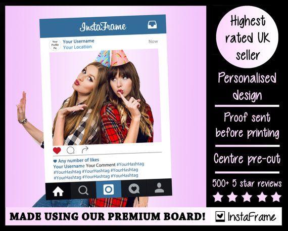 Printed Instagram Frame - PREMIUM Personalised InstaFrame ...