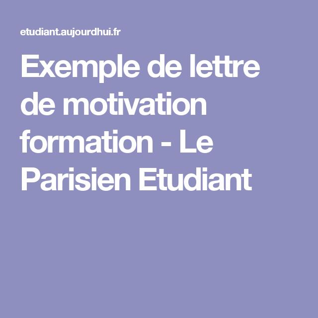 Lettre De Motivation Pour Une Formation: Exemple De Lettre De Motivation Pour Une Formation